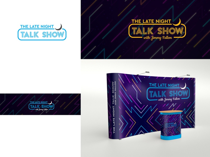 talk show design logo