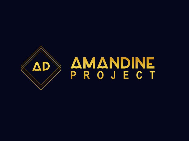 Amandine Project flat design typography logo
