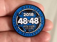 48in48 Pins 2018 Enamel