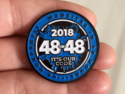 48in48 Pins 2018 Enamel enamel pin logo lanyard design 48in48