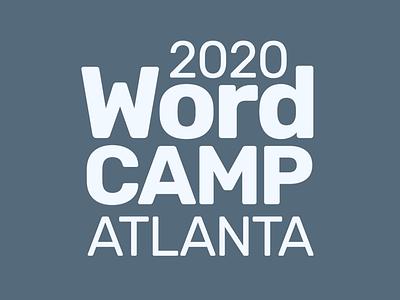 Logo concepts for WordCamp Atlanta versatility simplicity visual identity 2020 logotype concepts sketches logo