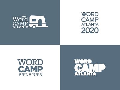 2020 WordCamp Atlanta Logotype Concepts wordpress wordcamp identity brand concepts sketches logotype logo 2020