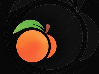 WORDCAMP 2020 - Brandmark Concept fruit identity vector brand wordpress wordpress camp atlanta peach design logo brandmark 2020 wordcamp