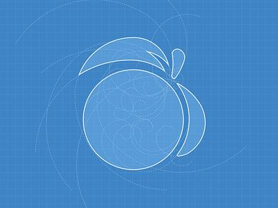 Working with Golden Ratio golden fibonacci logomark brandmark illustrator cc illustration peach golden ratio