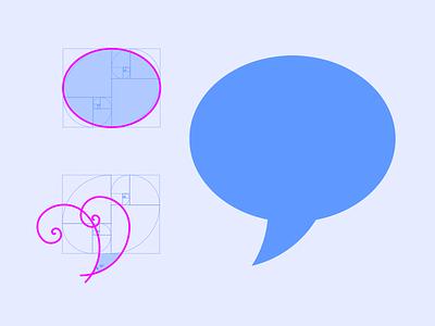 Icon Chat Bubble Golden Ratio construct grid logomark illustrator cc illustration golden ratio golden fibonacci chat chat bubble icon