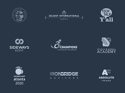Logo Collection vector illustrator typography signature logotype wordmark identity brand branding logo