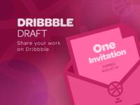 Dribbble Draft Invitation (Email Update!)