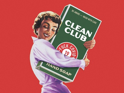 Clean Club Weekly Warm Up covid-19 covid19 coronavirus label clean soap vintage weekly warmup weeklywarmup