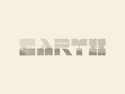 Earth Day Typography typographic nature mother nature custom type customtype typography earth earthday earth day