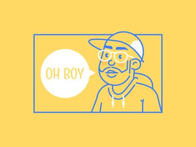 Personal Avatar skillshare digital illustration headshot personal avatar personal illustration avatar