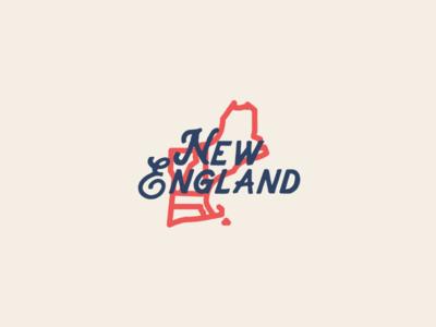 New England fishing type icon new england