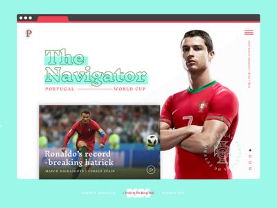 Ronaldo Layout | BSDS Thunderdome soccer portugal worldcup web layout web thunderdome bsds