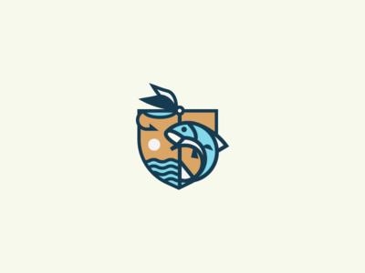 Throwaway Fly fishing Badge shield badge fly fishing fish fishing