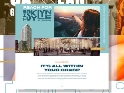 The Skylyne Splash Page property design ui web design lead capture splash page website oakland real estate web