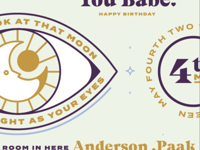 Anderson .Paak Themed Birthday Card Elements stars sun moon eye birthday card birthday