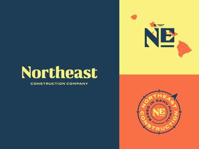 Northeast Construction Logo Direction brand identity idenity logotype hawaii construction company logo construction