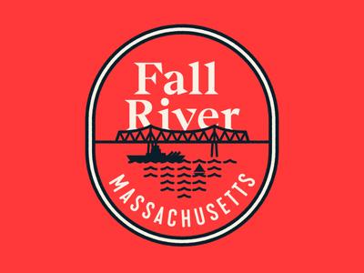Fall River Massachusetts bsds illustration vector badge warm up fall river