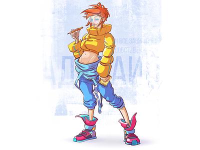 Adelaine / Character Design for a WebComic Project chracter designer webtoon concept art webcomic comic art illustration illustration art vector illustration characterdesign illustrator