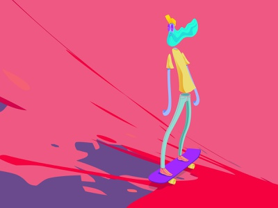 Nacho Skater character animation motiongraphics comic art illustration art illustrator motion design vector illustration illustration characterdesign