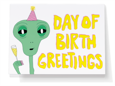 Day of Birth Greetings Card