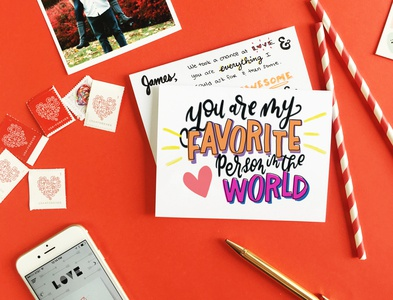 You're My Favorite Person In The World Greeting Card