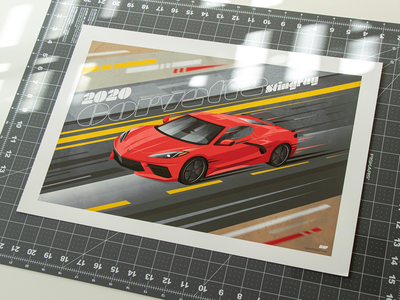 2020 Corvette Stingray Print