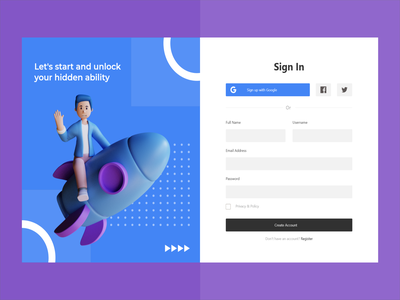 Dashboard: Login & Sign Up wireframe ui design uiux login page sign in form sign in page sign up page sign up form sign in sign up dashboard login