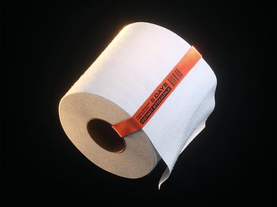 Toilet Roll 🧻🧻🧻 toilet substance designer substance texturing cinema4d octane bog roll toilet roll 3d