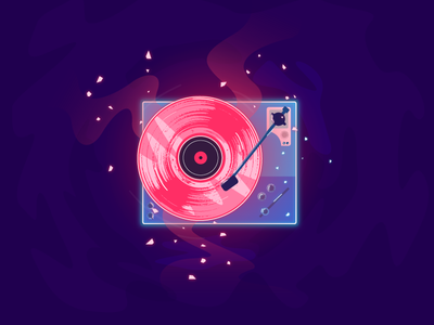 Daily #83/ spinnin' cool shit jack harvatt space wavey gradient magic colour vector new daily illustration