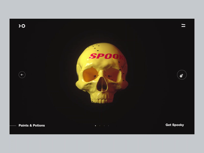 Choose your spook! wallpaper interaction rotate 3d animation skull halloween spook spooky mp4