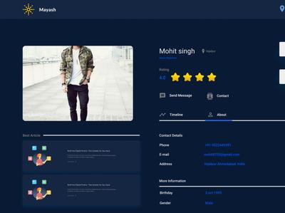 Dark mode profile page