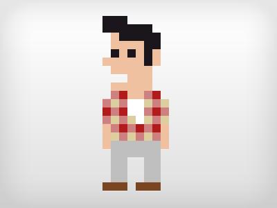Image of new personal logo icon 8 bit pixel