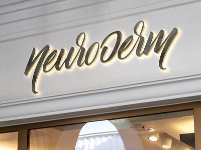 Neuroderm | Logo calligraphy brush handmade branding logo dermatology neurology