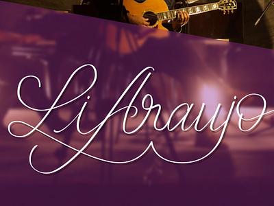 Li Araujo | Logo calligraphy brushpen handmade logotype singer