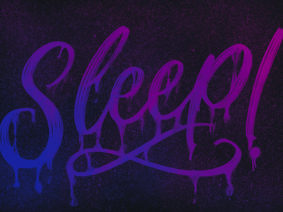 Sleep / iPad Pro brushpen apple pencil ipad lettering calligraphy