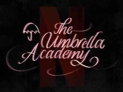 The Umbrella Academy / iPad Pro calligraphy lettering brush brushpen procreate apple pencil ipad pro