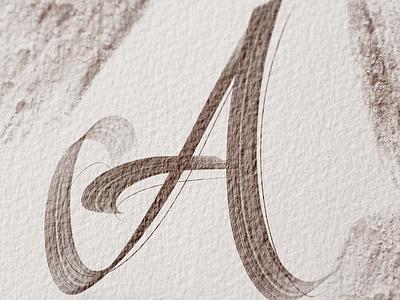 A / 36DaysOfType 36daysoftype 36days-a brush procreate ipad pro calligraphy