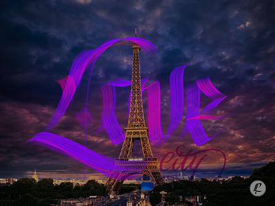 Love City procreate ipad pro calligraphy paris tour eiffel france