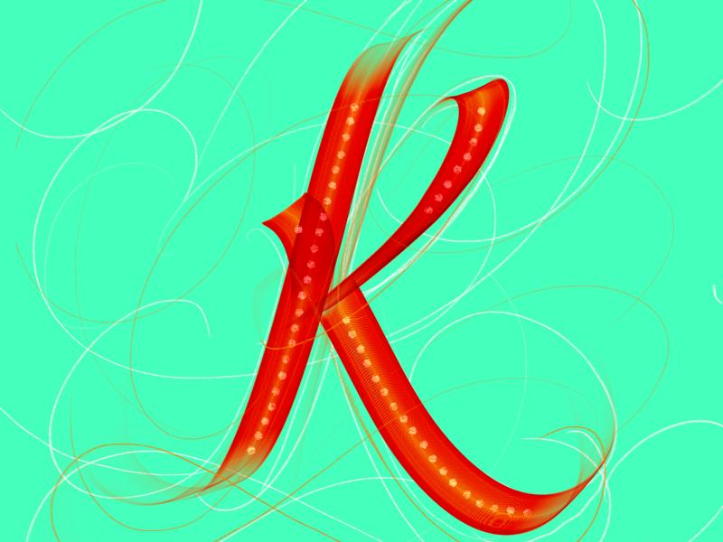 K / 36DaysOfType chalk calligraphy lettering procreate j 36days