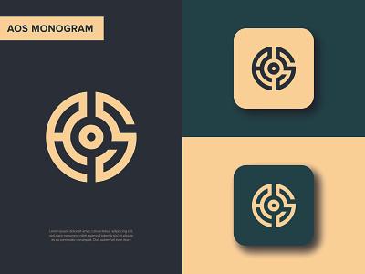 Monogram logo design | Letter AOS letter mark logo | logo icon modern logo monogram logo s o a aosmonogram logodesigner monoline icon monogram letter mark monogram design lettermark lettermark logo branding app monogram