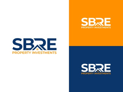 SBRE - Real Estate Logo 2021 america typography logotype brand design branding icon logo design home real estate logo design real estate branding real estate agent real estate agency realestate real estate real estate logo monogram sbre monogram