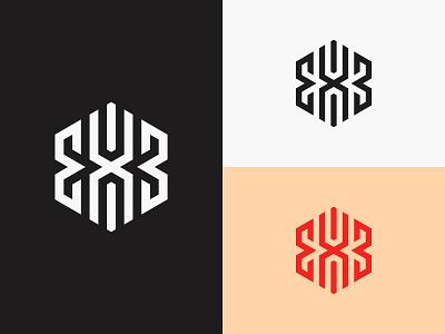 EXB Monogram brand identity minimal netherlands canada europe usa logotype illustration brand identity design brand design branding icon designer symbol icon logo design logo exb monoline monogram