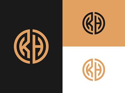 KH Monogram vector minimal kh logo letter h logo letter k logo kh monogram kh brand identity branding design brand design design mark identity logotype logo design typography icon logo monogram branding