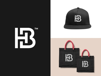 HB Monogram Logo { For Sell } sell identity branding brand design typography logo design logo company sektch abstract icon minimal bh monogram bh logo b logo h logo monogram hb monogram hb logo hb