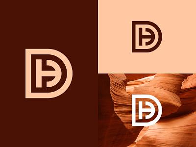 DH Logo or HD Logo concept minimalist simple modern dh hd monogram hd logo dh monogram dh logo logos luxury illustration design logotype identity logo design typography monogram logo branding