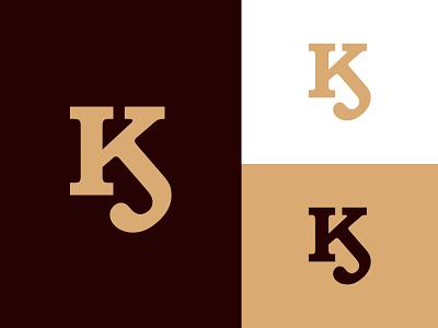 KJ Monogram Logo clothing branding graphic design fashion elegant logos jk monogram jk logo jk kj logo kj monogram kj illustration design logotype identity logo design typography monogram logo branding