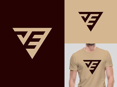 JE Monogram Logo company creative minimalist art monoline logos fashion je monogram je logo je ui illustration design logotype identity logo design typography monogram logo branding