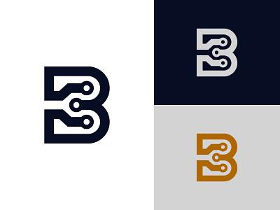 Letter B Technology Logo minimalist tech logo modern letter logo minimal logo monogram logo simple logo modern logo robotic logo technology logo letter b tech logo graphic design illustration design logotype identity logo design typography monogram logo branding