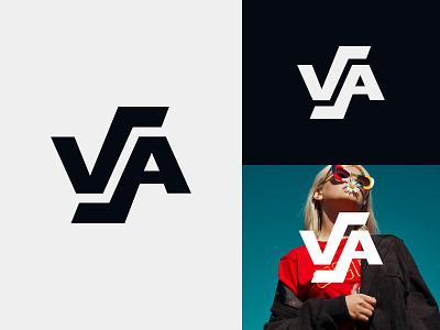 VA Logo fitness logo gym logo travel logo clothing brand logo fashion logo sports logo monogram logo va monogram va logo va graphic design illustration design logotype identity logo design typography monogram logo branding