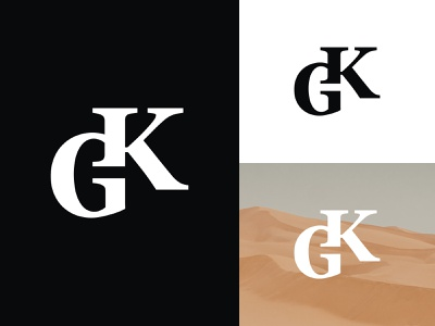 GK Logo or KG Logo fashion logo logoawesome simple logo elegant logo simple kg logo kg monogram kg gk monogram gk logo gk illustration design logotype identity logo design typography monogram logo branding
